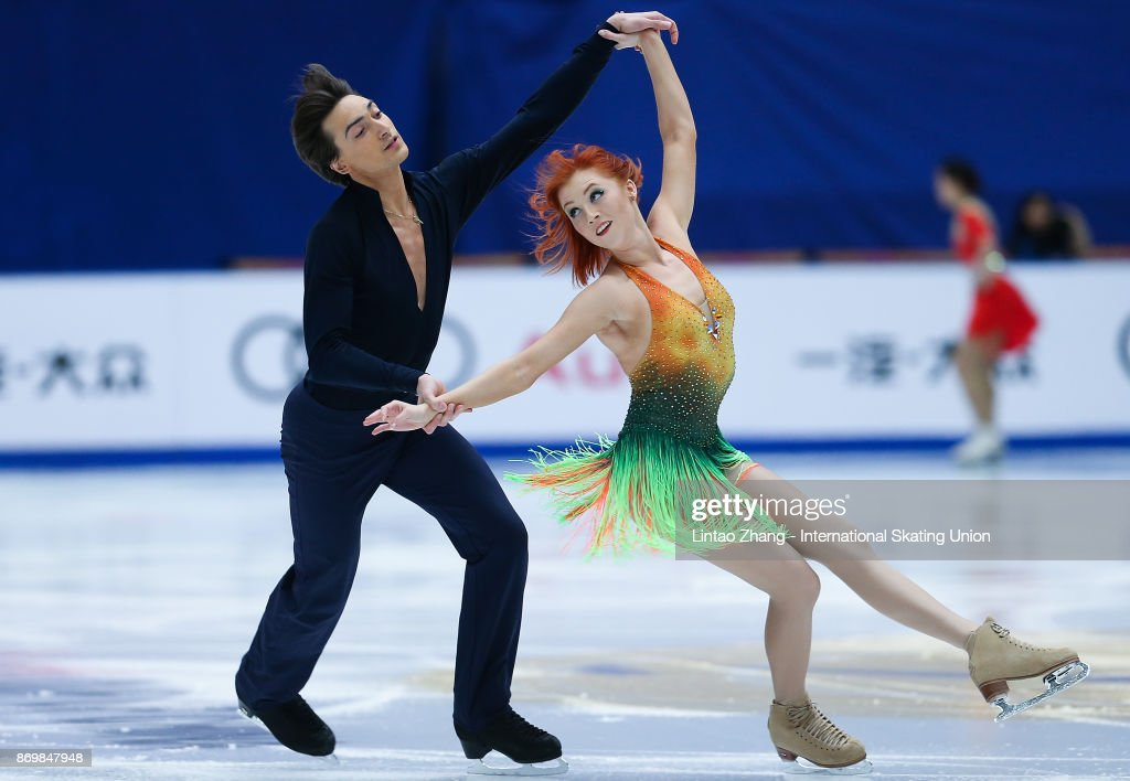 Tiffani Zagorski and Jonathan Guerreiro of Russia compete in the Ice Dance Short Dance on day one of Audi Cup of China ISU Grand Prix of Figure Skating 2017 at Beijing Capital Gymnasium on November 3, 2017 in Beijing, China.