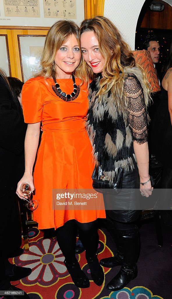 Tiffanie Dark and Alice Temperley attend Veuve Clicquot Style Party at Annabel's on November 26, 2013 in London, England.