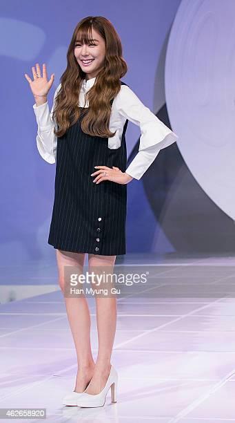 Tiffany and Seohyun of South Korean girl group Girls' Generation aka TaeTiSeo walks the runway during the Fashion Kode 2015 FW at SETEC on January 29...