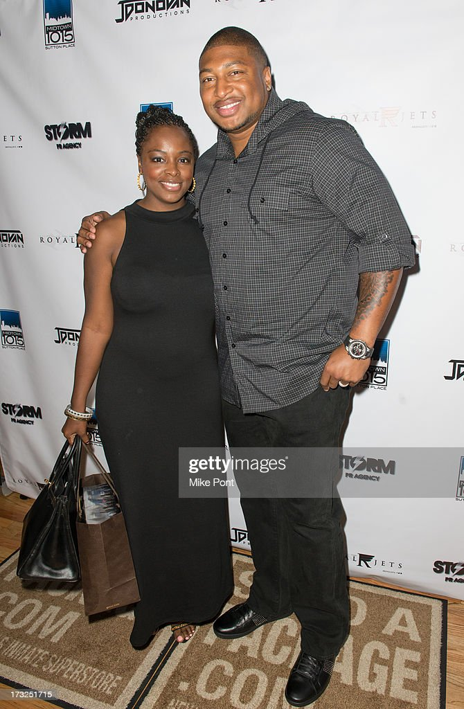 Tiffany Bowen and NFL Football Player Stephen Bowen attend Renee Graziano's Celebrity Dinner Party at Midtown 1015 on July 10, 2013 in New York City.