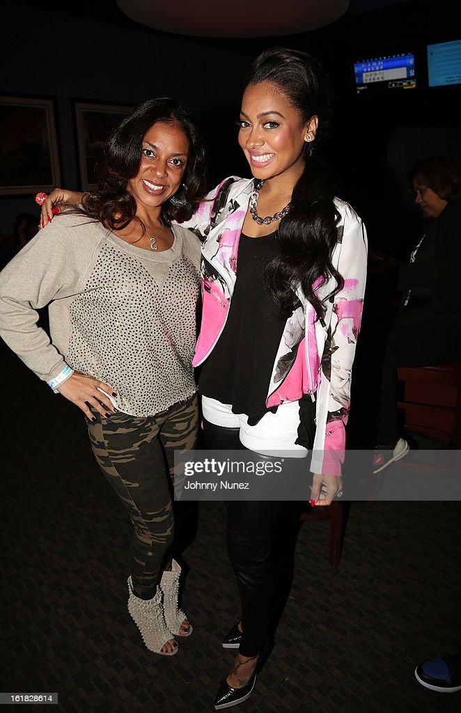 Tiffany Cambridge and La La Anthony attend The King Pin Celebrity Bowling Challenge at 300 Houston on February 16, 2013, in Houston, Texas.