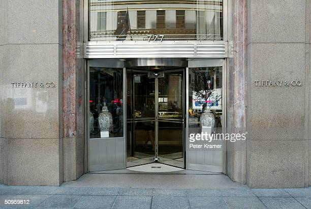 Tiffany Co on Fifth Avenue June 14 2004 in New York City