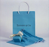 Tiffany Co shopping bag ribbontied box jewelry pouch