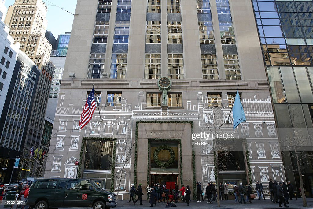 Tiffany Co store Christmas holiday display on December 11 2013 in New York City
