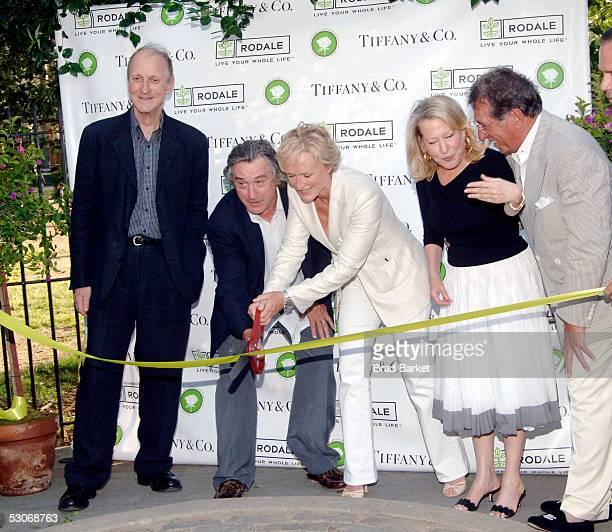 Tiffany Designer John Loring actor Robert De Niro actress Glenn Close actress Bette Midler and actor Frank Pellegrino cut the ribbon the Bette...