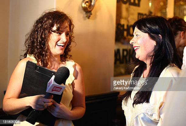 Tiffany Dunk during an interview at the launch of Foxtel's new documentary series 'Park Street' at the Bambini Trust Wine Room on February 23 2011 in...