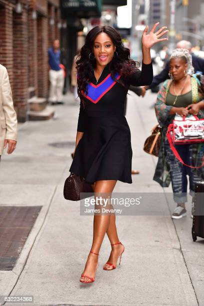 Tiffany Haddish arrives to the 'The Late Show With Stephen Colbert' at the Ed Sullivan Theater on August 15 2017 in New York City