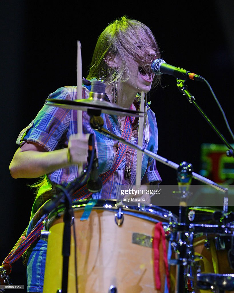 Tiffany Lamson of Givers performs at Bayfront Park Amphitheater on October 7, 2012 in Miami, Florida.