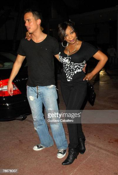 Tiffany 'New York' Pollard and Tailor Made of the VH1 reality show 'I Love New York' leaves the Sagamore Hotel on December 29 2007 in Miami Beach...