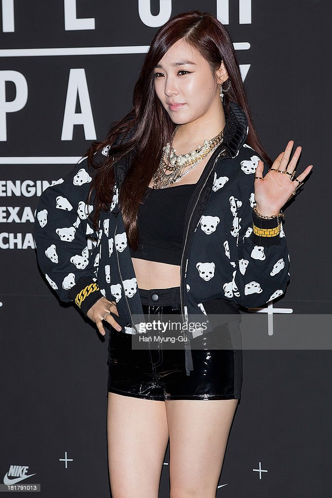 Tiffany of South Korean girl group Girls' Generation attends a promotional event for the NIKE 'Tech Pack' Showcase at Shilla Hotel on September 24, 2013 in Seoul, South Korea.