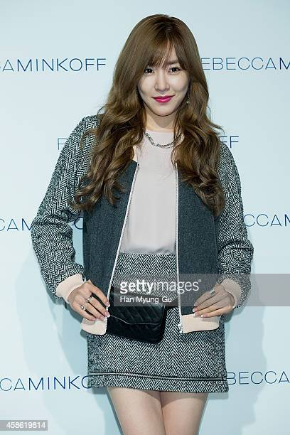 Tiffany of South Korean girl group Girls' Generation attends 'Rebecca Minkoff' 2015 S/S Collection Launch Party at Grand Hyatt Hotel on November 7...