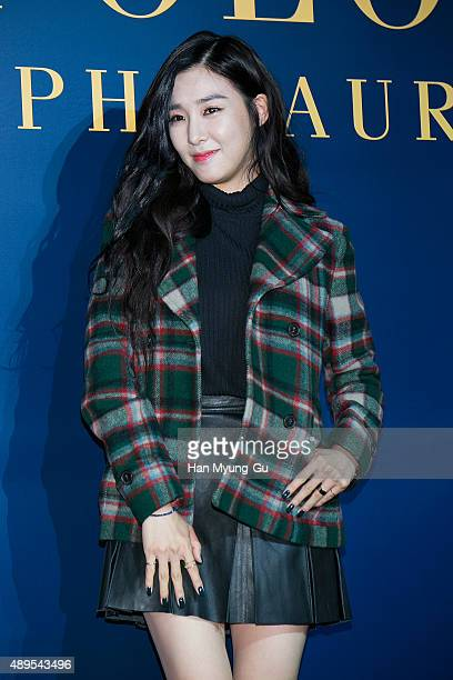Tiffany of South Korean girl group Girls' Generation attends the launch party for 'Polo Ralph Lauren' Shinsa Store Opening on September 22 2015 in...