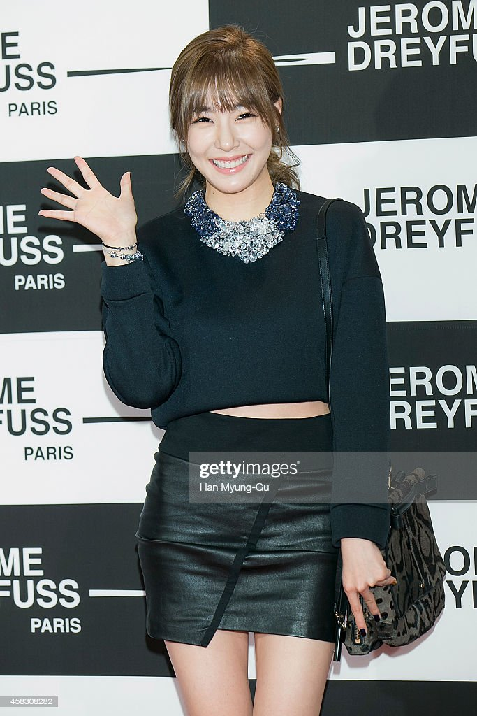 Tiffany of South Korean girl group Girls' Generation attends the 'Jerome Dreyfuss' Flagship Store Opening on October 31, 2014 in Seoul, South Korea.