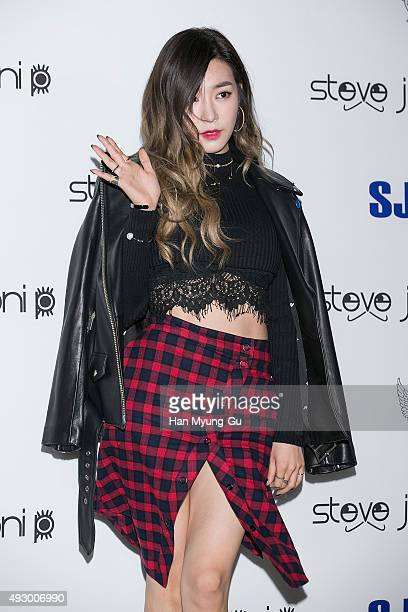 Tiffany of South Korean girl group Girls' Generation attends the 'Steve J Yoni P' 2016 S/S Collection on October 16 2015 in Seoul South Korea