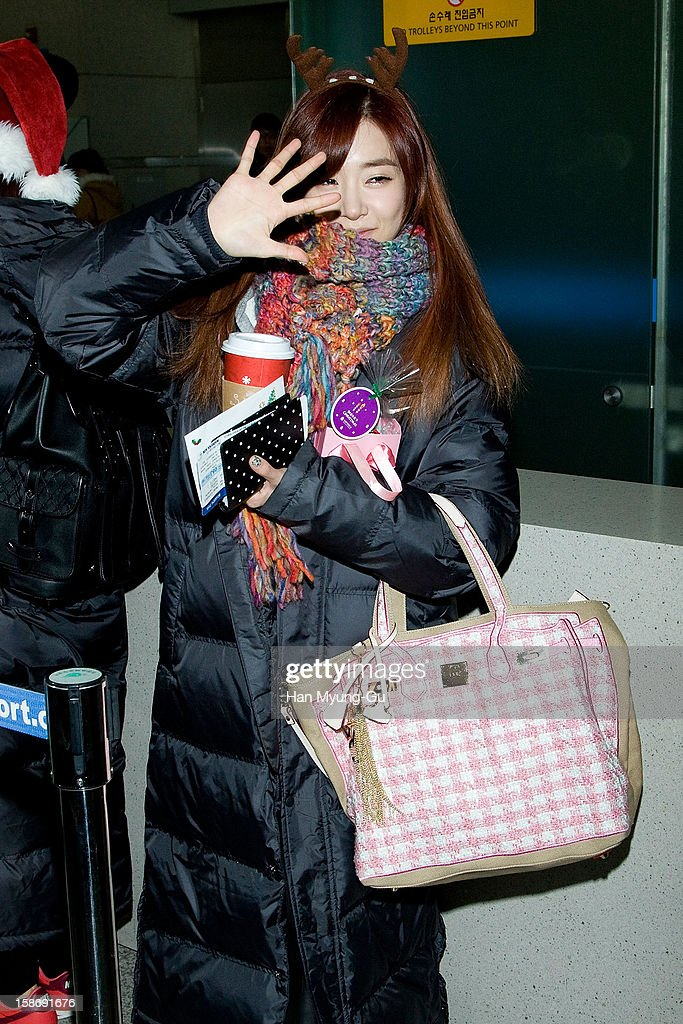 Tiffany of South Korean girl group Girls' Generation is seen at Incheon International Airport on December 24, 2012 in Incheon, South Korea.