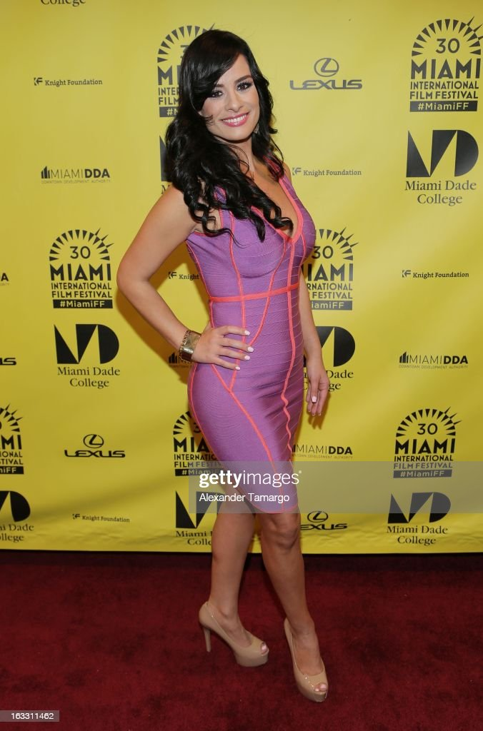 Tiffany Perez attends 'Eenie Meenie Miney Moe' Premiere during the 2013 Miami International Film Festival at Gusman Center for the Performing Arts on...