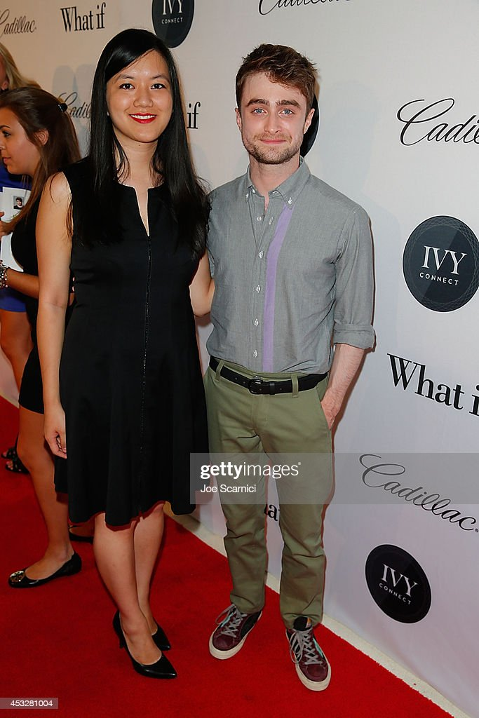 Tiffany Pham and Daniel Radcliffe attend IvyConnect's Inaugural Ivy Innovator Awards with Daniel Radcliffe at Landmark Theatre on August 6, 2014 in Los Angeles, California.
