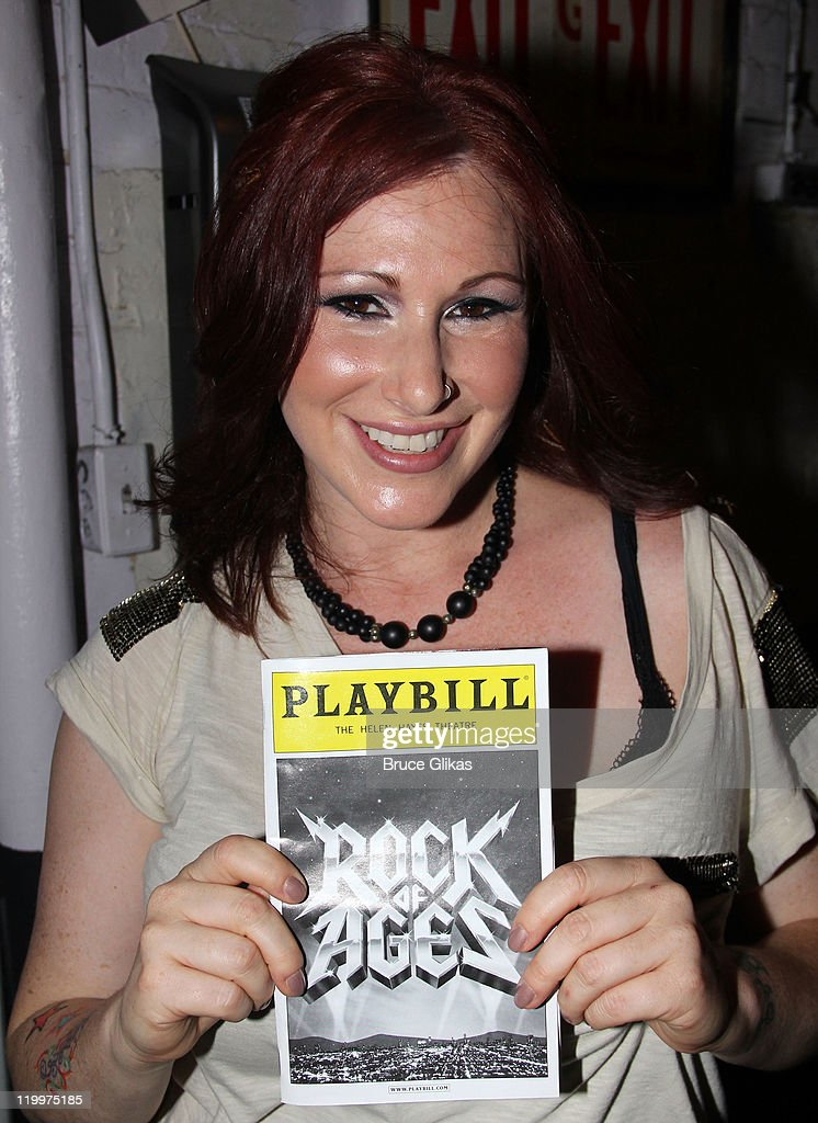Tiffany poses backstage at Broadway's 'Rock Of Ages' at Helen Hayes Theatre on July 26 2011 in New York City