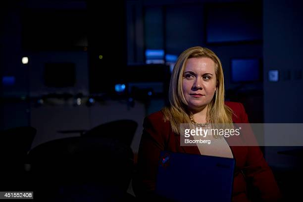 Tiffany Rad manager of threat research for ThreatGrid Inc sits for a photograph at a Cisco Systems Inc office in Herndon Virginia US on Friday June...