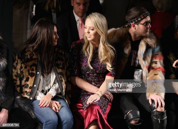 Tiffany Trump and Andrew Warren attend the Dennis Basso collection during New York Fashion Week The Shows at Gallery 1 Skylight Clarkson Sq on...