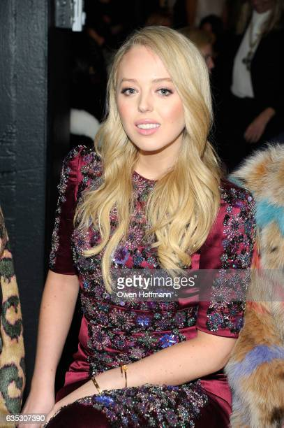 Tiffany Trump attends the Dennis Basso Collection Show during New York Fashion Week The Shows at Skylight Clarkson Sq on February 14 2017 in New York...