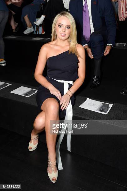 Tiffany Trump attends the Taoray Wang fashion show during New York Fashion Week The Shows at Gallery 1 Skylight Clarkson Sq on September 9 2017 in...