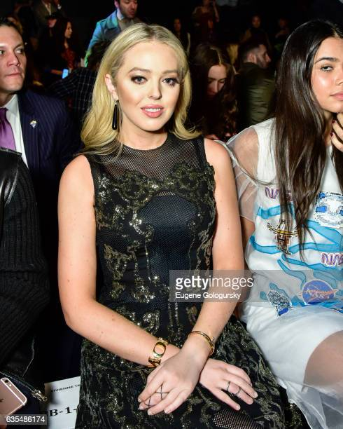 Tiffany Trump attends the Vivienne Tam Show during New York Fashion Week The Shows at Gallery 1 Skylight Clarkson Sq on February 15 2017 in New York...