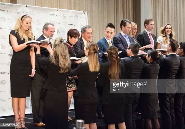 Tiffany Trump Eric Danziger Datuk Tony Tiah Datin Alicia Tiah Joo Kim Tiah CEO of the Holborn Group Donald Trump Jr his wife Vanessa Haydon Eric...
