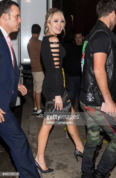 Tiffany Trump is seen arriving at the Philipp Plein fashion show during New York Fashion Week The Shows at Hammerstein Ballroom on September 9 2017...