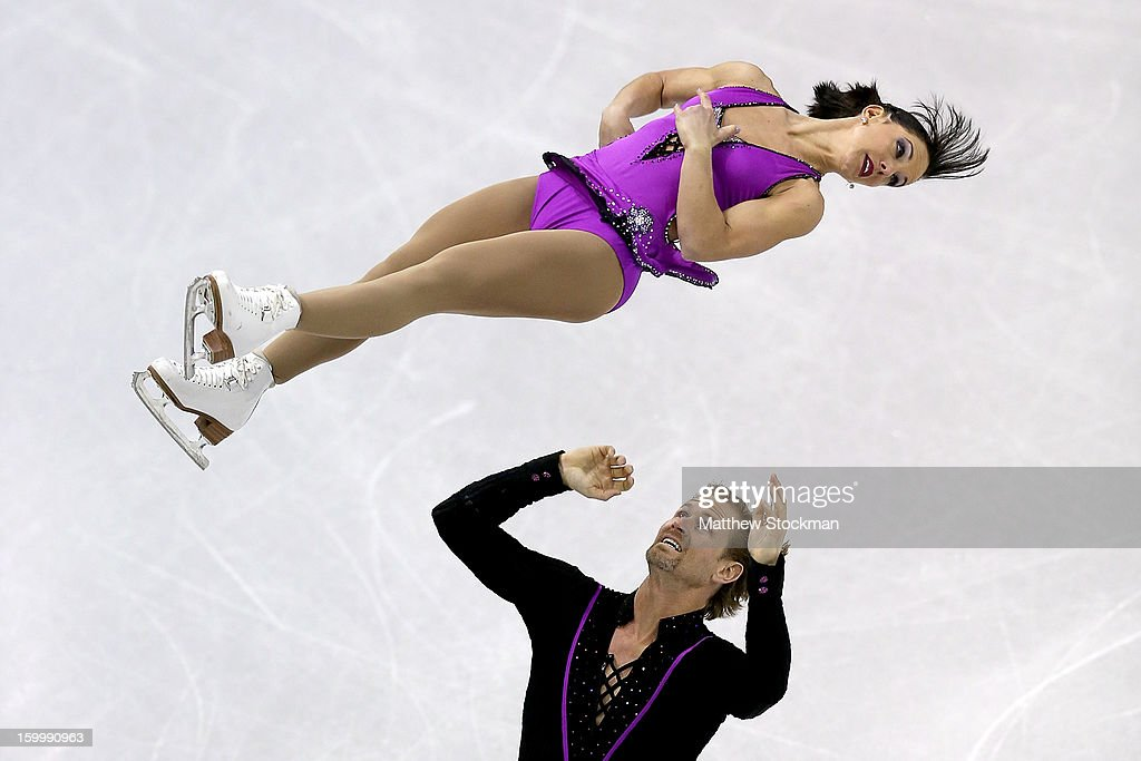 Tiffany Vise and Don Baldwin compete in the Pairs Short Program during the 2013 Prudential U.S. Figure Skating Championships at CenturyLink Center on January 24, 2013 in Omaha, Nebraska.