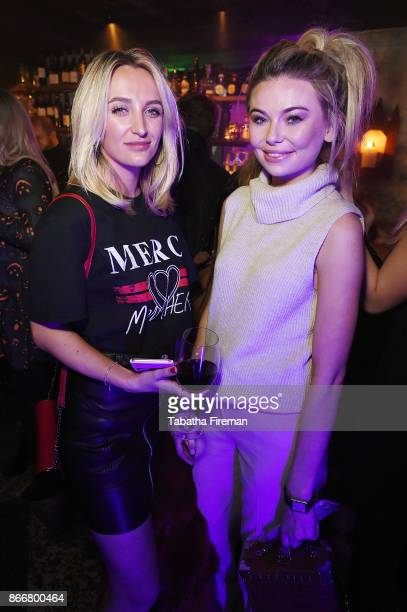Tiffany Watson and Georgia Toffolo attend Badoos #DateOfTheDead party with Daisy Lowe at La Bodega Negra on October 26 2017 in London England