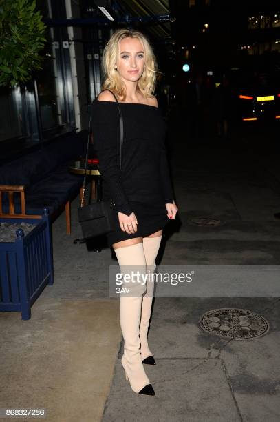 Tiffany Watson arrives at Isabels for the INCredibles Beauty Launch on October 30 2017 in London England