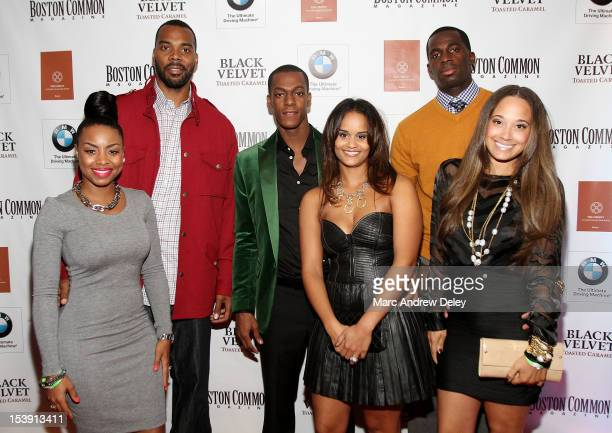 Tiffany Wilcox Chris Wilcox Rajon Rondo Ashley Bachelor Brandon Bass and Melissa Bass arrive as Boston Common Magazine Celebrates Boston Celtics Star...