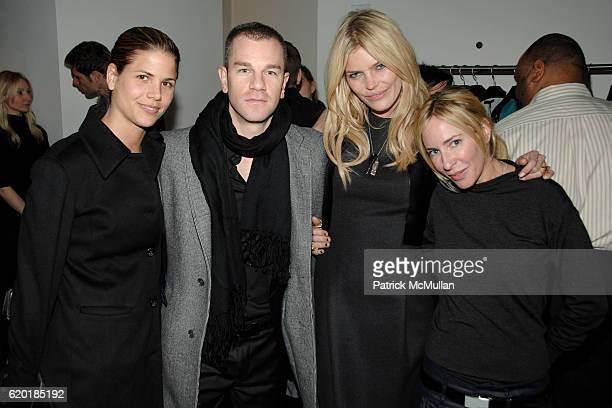 Tiffin Jernstedt Josh Reed May Andersen and Lauryn Flynn attend CALVIN KLEIN COLLECTION and SAFE HORIZON's Junior Council Cocktail Party at Calvin...