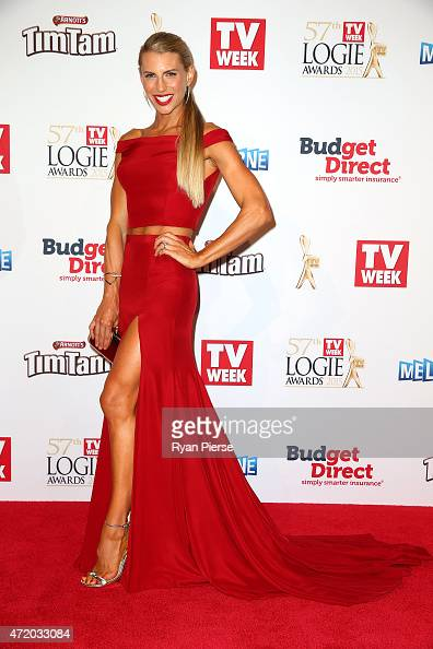 Tiffiny Hall arrives at the 57th Annual Logie Awards at Crown Palladium on May 3 2015 in Melbourne Australia