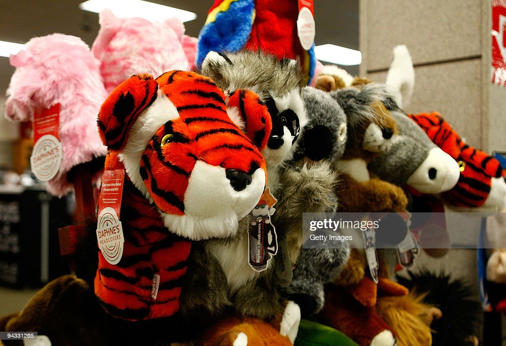 A tiger headcover is seen on display at a golf shop on December 12, 2009 in Orlando, Florida. Tiger Woods announced that he will take an indefinite break from professional golf to concentrate on repairing family relations after admitting to infidelity in his marriage.