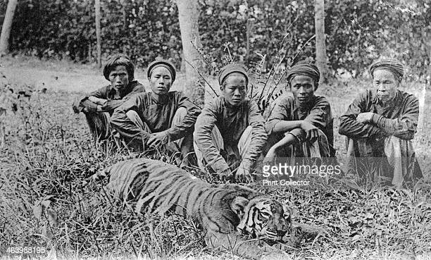 Tiger hunters Tonkin Vietnam 20th century