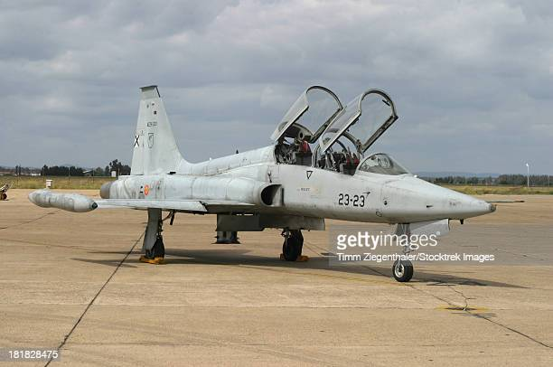 F-5 Tiger II used as a lead-in trainer aircraft for the Spanish Air Force, Talavera la Real, Spain.