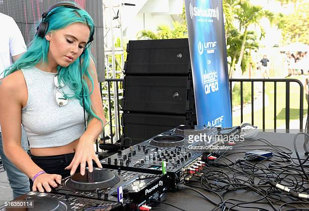 Tiger Lily performs at SiriusXM's 'UMF Radio' Broadcast Live From The SiriusXM Music Lounge at 1 Hotel South Beach at 1 Hotel South Beach on March 18...