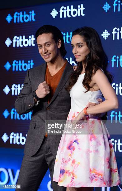 Tiger Shroff and Shraddha Kapoor during a product launch in New Delhi