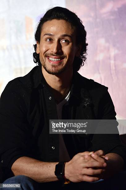 Tiger Shroff during a press conference to promote his upcoming film A Flying Jatt in New Delhi