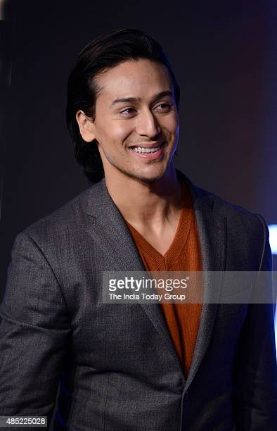 Tiger Shroff during a product launch in New Delhi