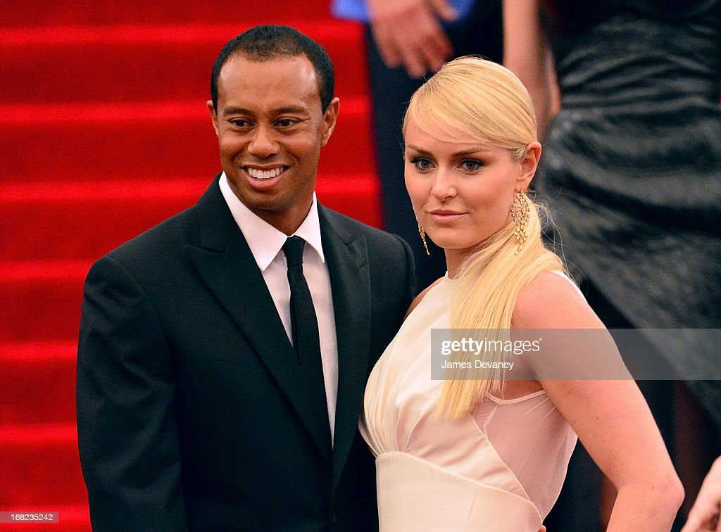 Tiger Woods and Lindsey Vonn attend the Costume Institute Gala for the 'PUNK: Chaos to Couture' exhibition at the Metropolitan Museum of Art on May 6, 2013 in New York City.