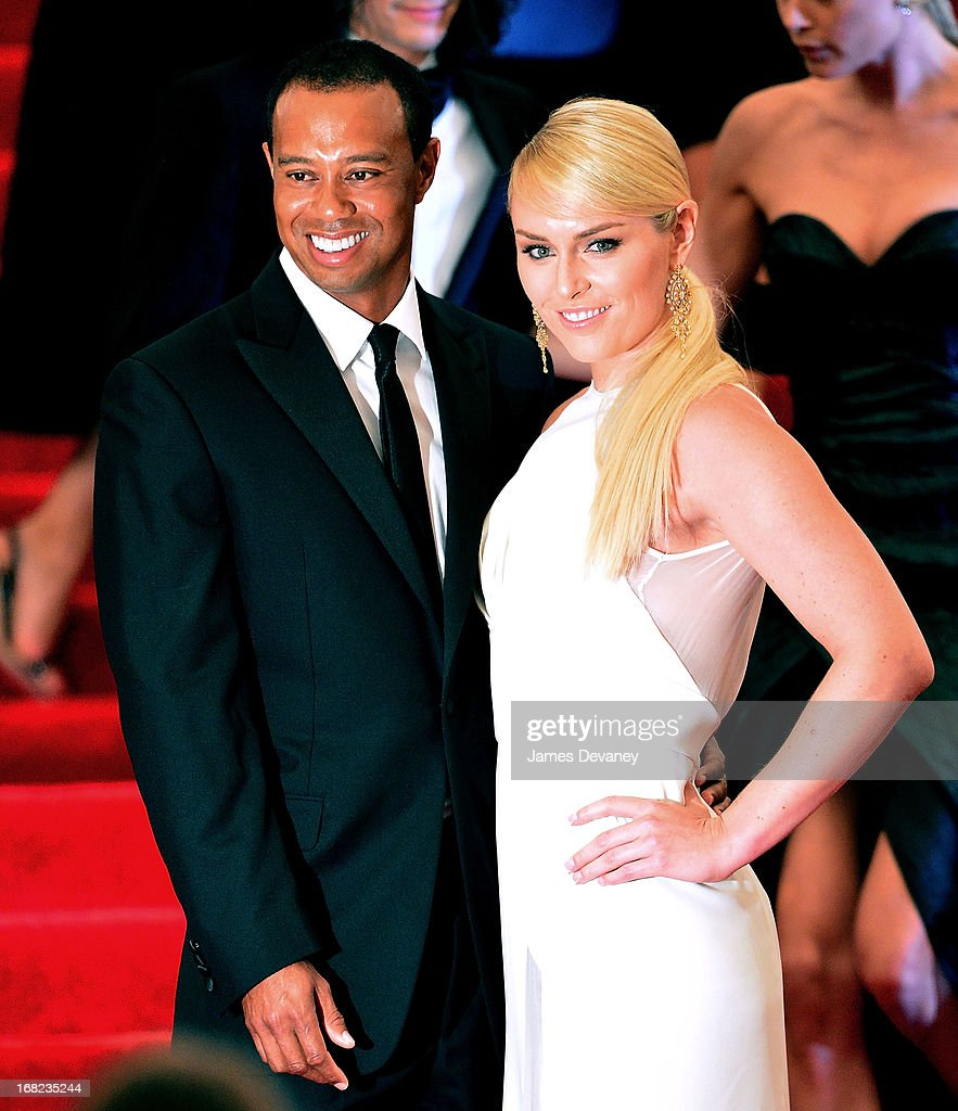<a gi-track='captionPersonalityLinkClicked' href=/galleries/search?phrase=Tiger+Woods&family=editorial&specificpeople=157537 ng-click='$event.stopPropagation()'>Tiger Woods</a> and <a gi-track='captionPersonalityLinkClicked' href=/galleries/search?phrase=Lindsey+Vonn&family=editorial&specificpeople=4668171 ng-click='$event.stopPropagation()'>Lindsey Vonn</a> attend the Costume Institute Gala for the 'PUNK: Chaos to Couture' exhibition at the Metropolitan Museum of Art on May 6, 2013 in New York City.
