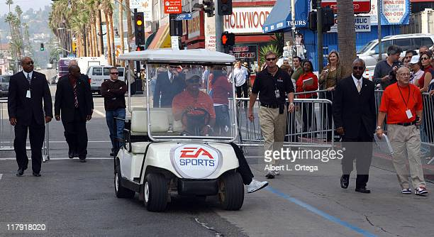 Tiger Woods during EA Games Presents Launch of 'Tiger Woods PGA Tour 07' with a TeeOff from Grauman's Chinese Theatre at Grauman's Chinese Theatre...