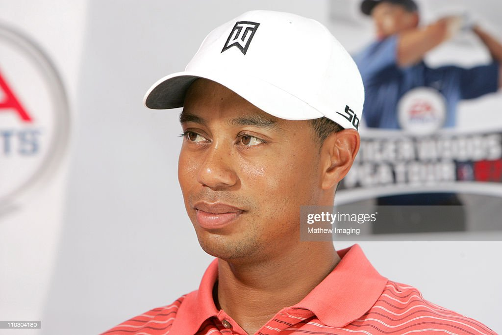 Tiger Woods during EA Sports Celebrates the Launch of 'Tiger Woods PGA Tour 07' with Tiger Woods TeeingOff at Grauman's Chinese Theatre at Grauman's...