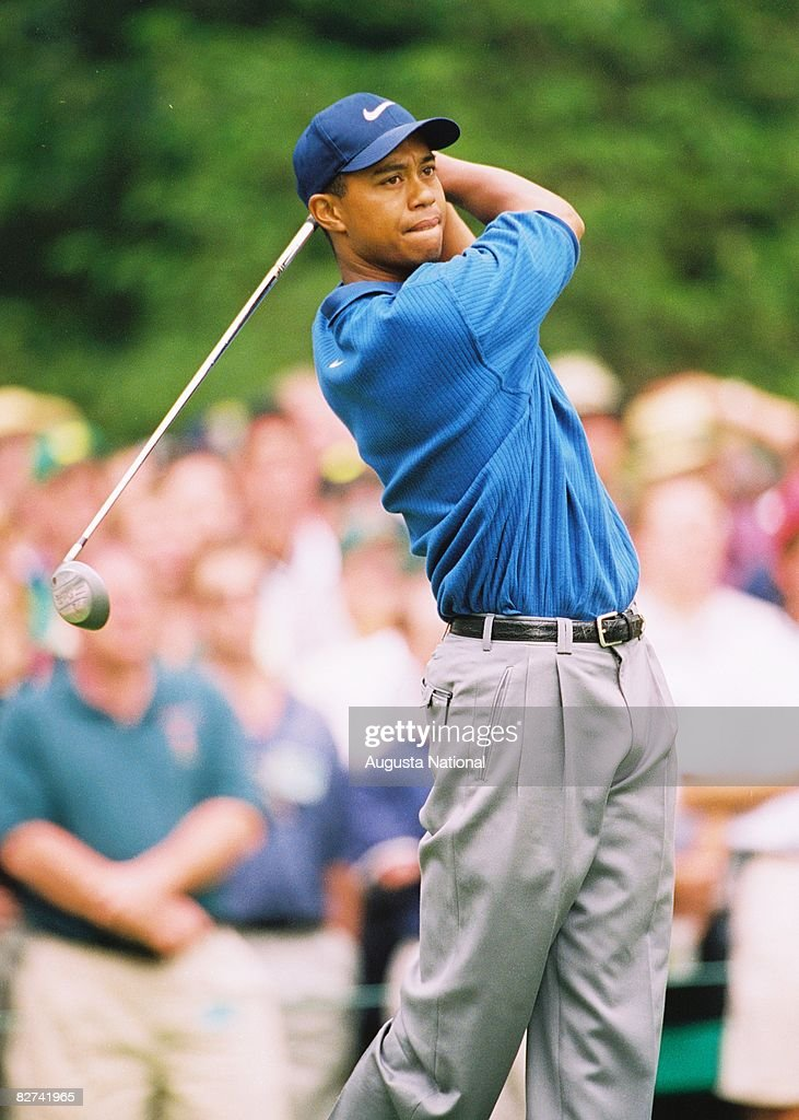 Tiger Woods during the 1997 Masters Tournament at Augusta National Golf Club on April 10-13, 1997 in Augusta, Georgia.