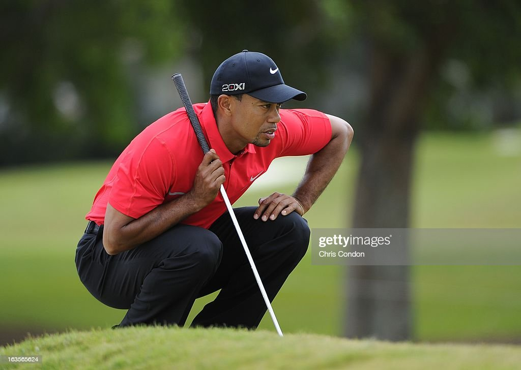 Tiger Woods during the final round of the World Golf Championships-Cadillac Championship at TPC Blue Monster at Doral on March 10, 2013 in Doral, Florida.