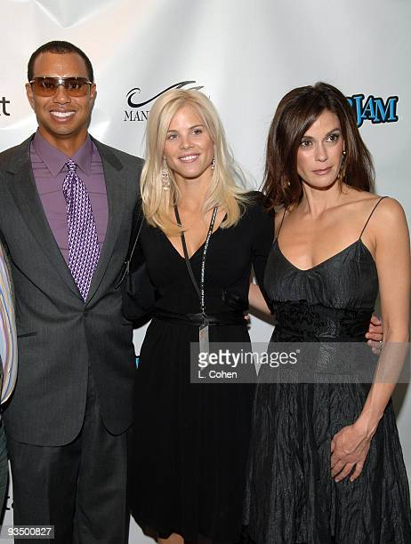 Tiger Woods Elin Nordegren and Teri Hatcher