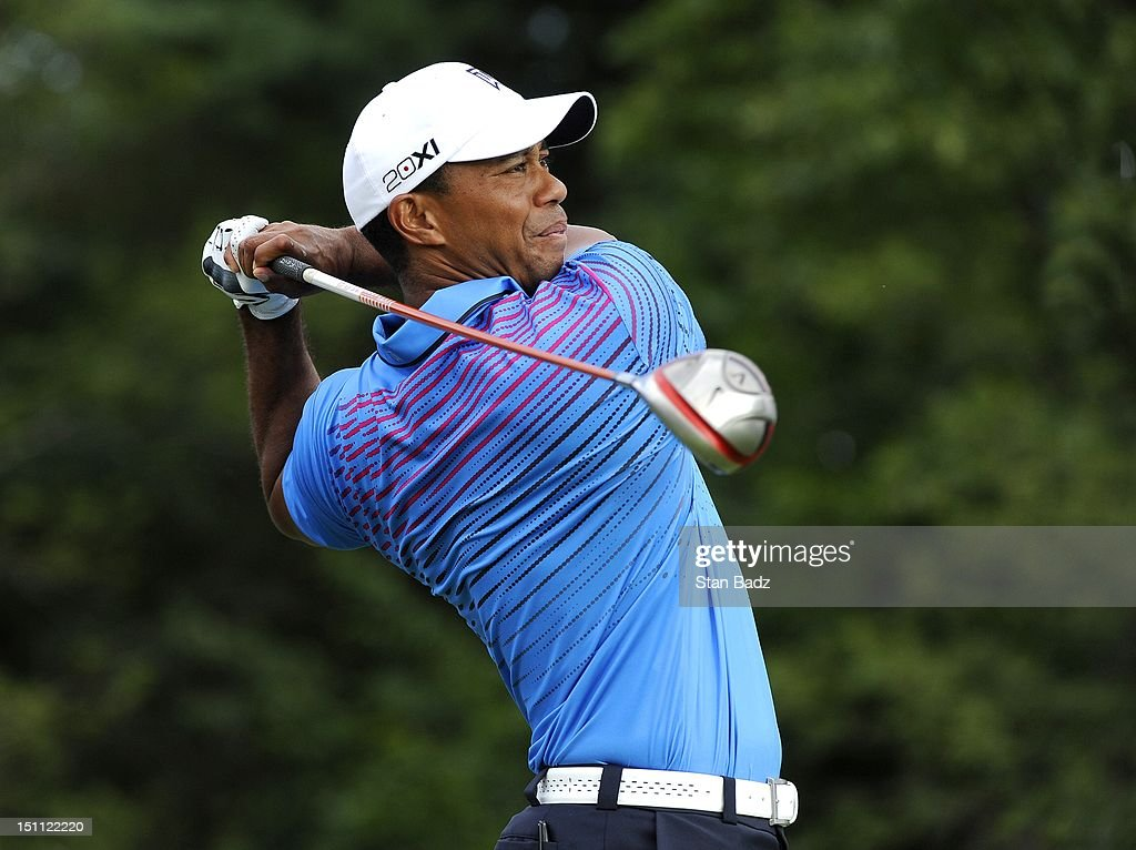 <a gi-track='captionPersonalityLinkClicked' href=/galleries/search?phrase=Tiger+Woods&family=editorial&specificpeople=157537 ng-click='$event.stopPropagation()'>Tiger Woods</a> hits a drive on the 14th hole during the second round of the Deutsche Bank Championship at TPC Boston on September 1, 2012 in Norton, Massachusetts.